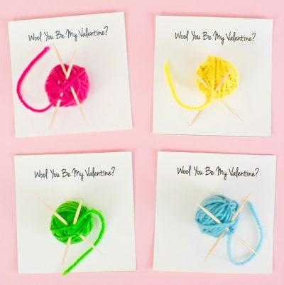 Yarn Ball Valentine Cards