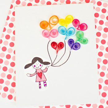 Quilled Heart Balloons