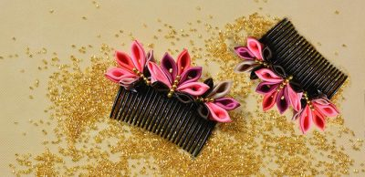 Japanese Flower Hair Comb