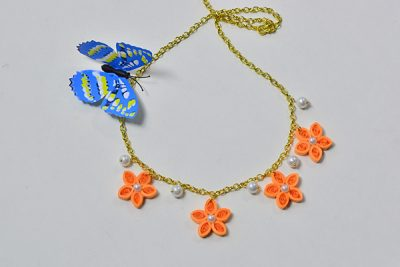Quilled Flower Necklace