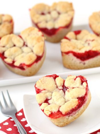 Heart Shaped Cherry Pie Bars