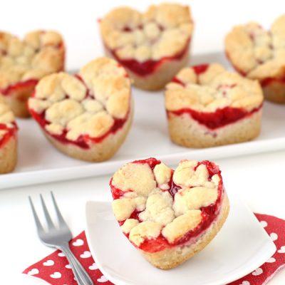 Heart Shaped Cherry Pie Bars
