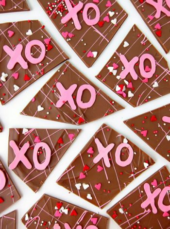 Hugs and Kisses Chocolate Bark
