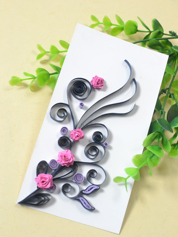 Quilled Valentines Day Card
