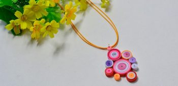 Quilled Paper Pendent Necklace