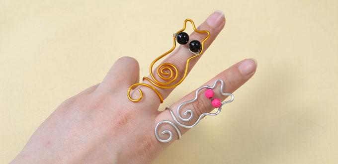 Wire-Wrapped Cat Ring