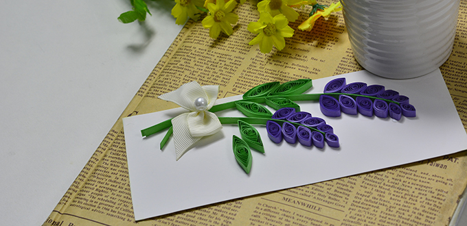 quilled lavender cards