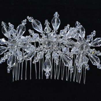 Beaded Snowflake Hair Comb