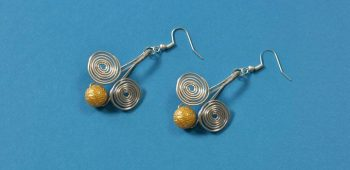 Easy Wire-Wrapped Drop Earrings