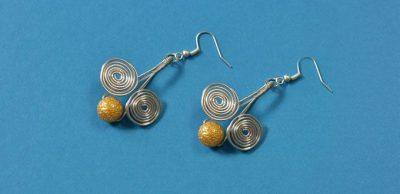 Easy Wire-Wrapped Drop Earrings