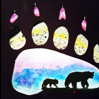 Polar Bear Paw Print Art