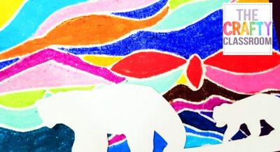 Polar Bear Pastel Art