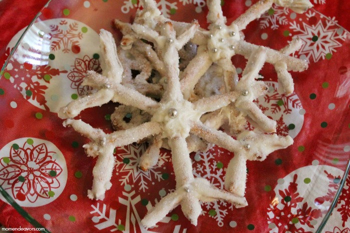 Pretzel Snowflakes