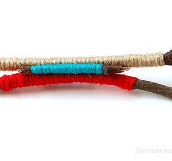Twigs Wool Brooch