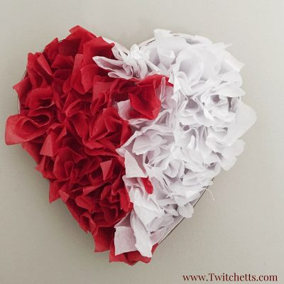 Upcycled Tissue Paper Hearts