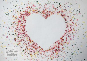 Melted Crayon Heart Art