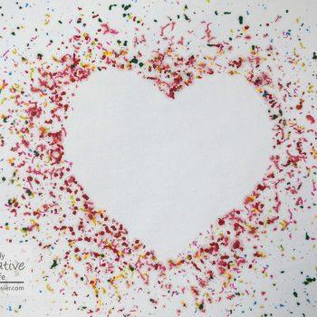 Melted Crayon Heart Art