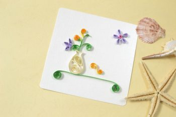 Quilled Flower Vase Card