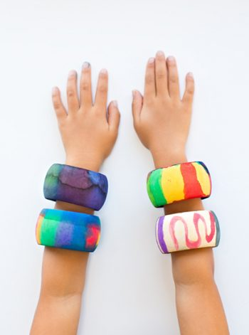 Watercolor Bangle Bracelets