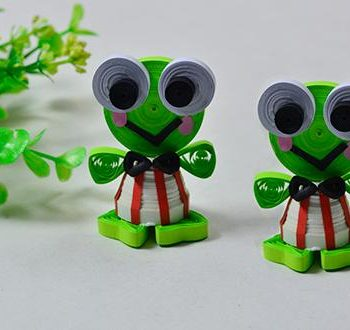 3D Quilled Frog