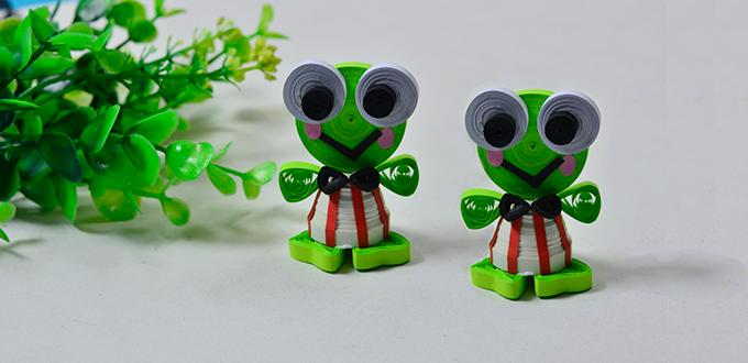 3d Quilled Frog Fun Family Crafts