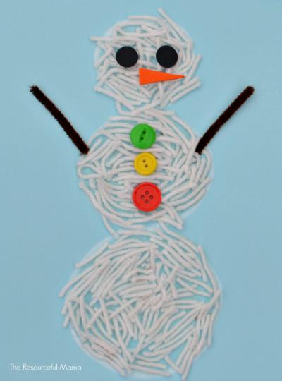 Yarn Snowman Craft