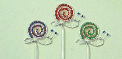 Wire-Wrapped Snail Bookmarks