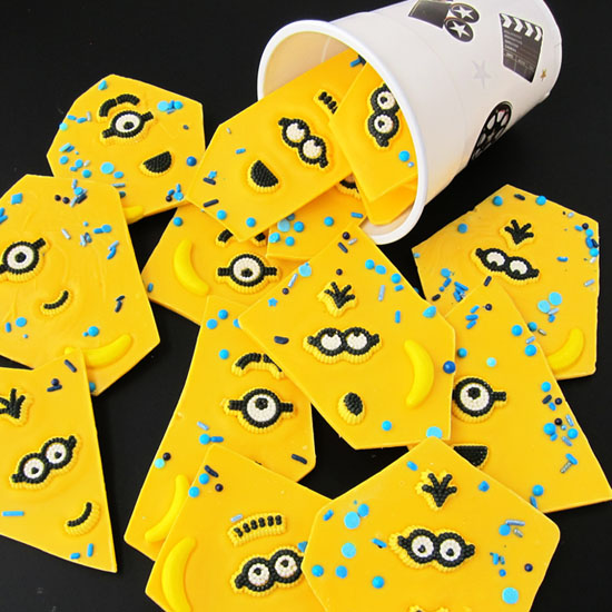 Have fun making bright yellow Minion Bark to serve at your Despicable Me Minion Parties. It's an easy treat to create.