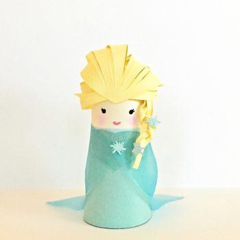 Cardboard Tube Frozen Elsa