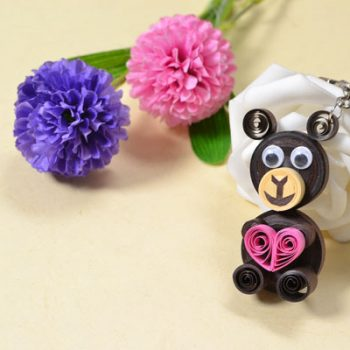 Quilled Bear Keychain