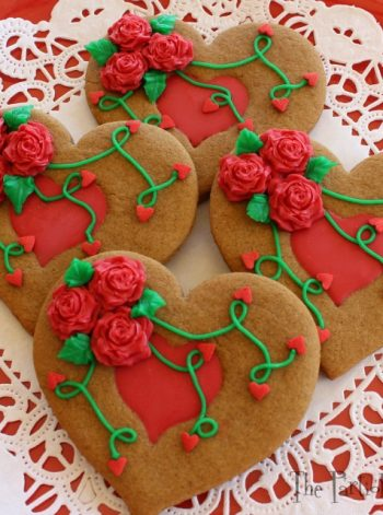 Chocolate-Filled Gingerbread Hearts