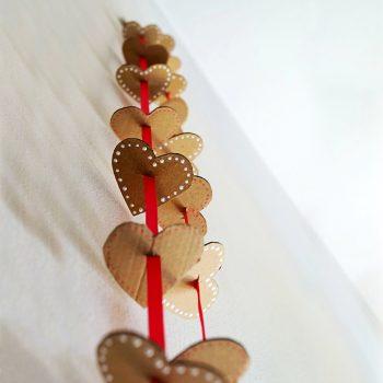 Cardboard Heart Garland