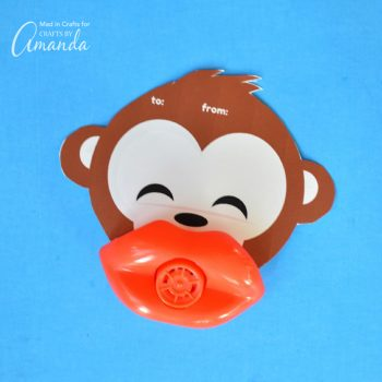 Monkey Lip Whistle Valentines