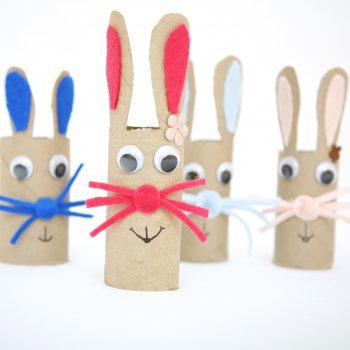 Cardboard Tube Bunny Craft