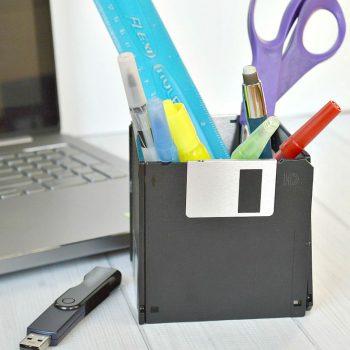 Computer Diskette Pencil Cup