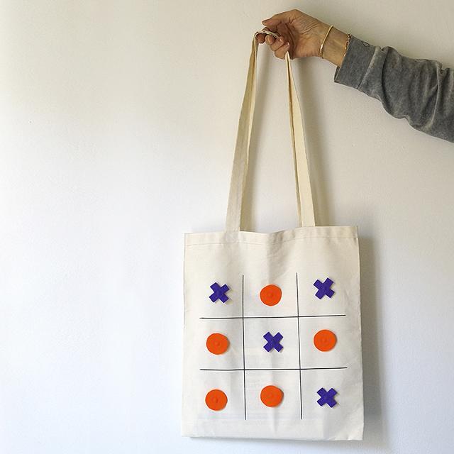 Tic Tac Toe Tote Bag