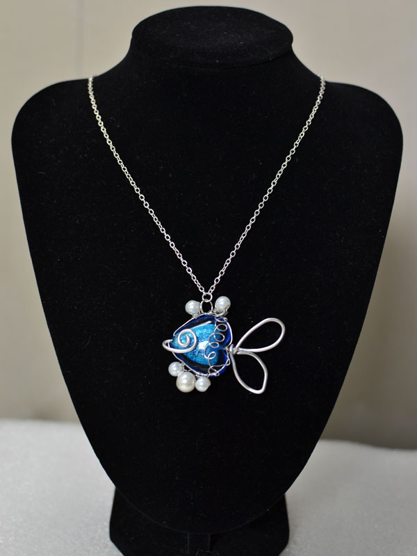 Pandahall Tutorial on Making a Handmade Blue Fish Pendant Necklace