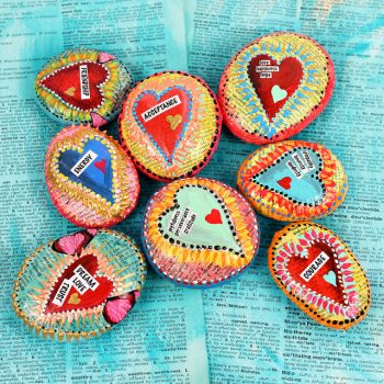 These easy-to-make stones provide colorful affirmations.
