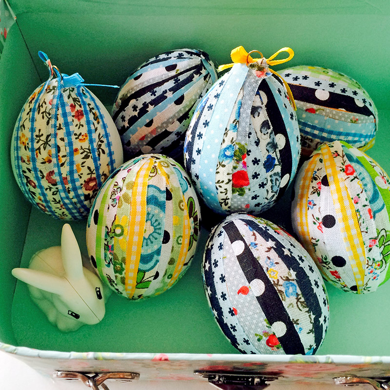 No Sew Patchwork Easter Eggs