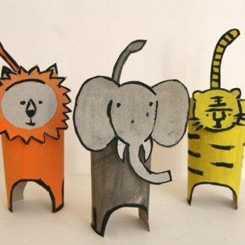 Cardboard Tube Jungle Animals