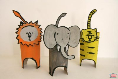 Cardboard Tube Jungle Animals