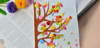 Pandahall Tutorial on How to Make Colorful Button Trees for Kids