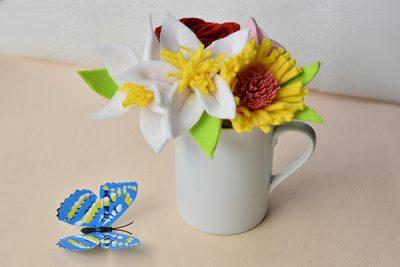 Easy Felt Flower Bouquet