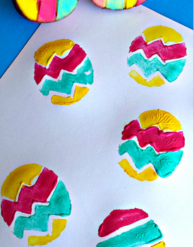 Easter Egg Potato Prints