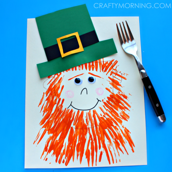 This fun leprechaun craft is painted with a fork!