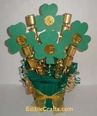 Learn how to make a cute Shamrock Chocolate Bouquet