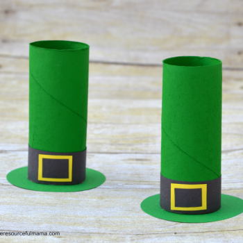 Cardboard Tube Leprechaun Hat