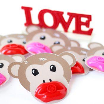 Monkey Lip Whistle Valentines