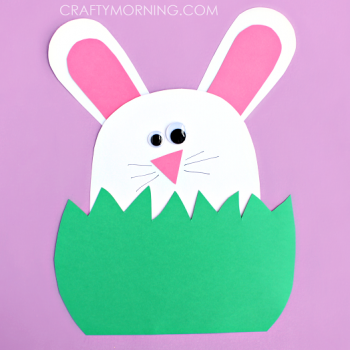 This adorable construction paper bunny is a wonderful craft for Easter time.