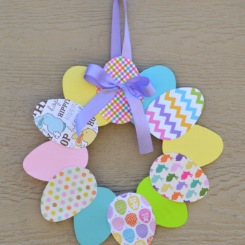 Paper Easter Egg Wreath
